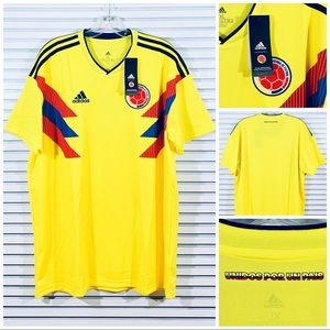 Adidas Colombia 2018 FIFA World Cup Home Jersey